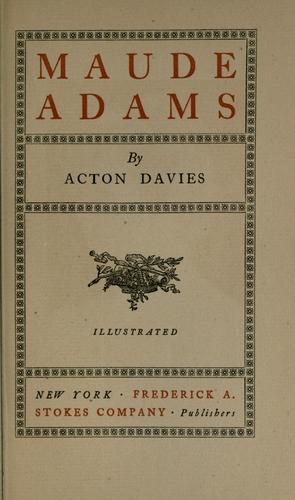 Maude Adams by Davies, Acton