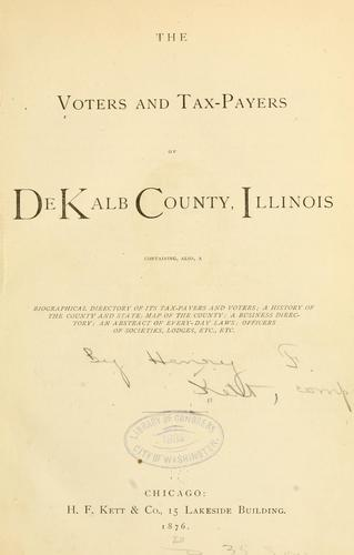 The voters and tax-payers of De Kalb County, Illinois