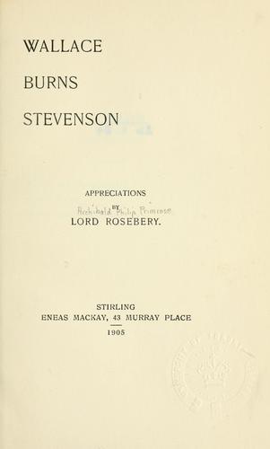 Wallace, Burns, Stevenson