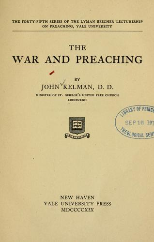 The war and preaching