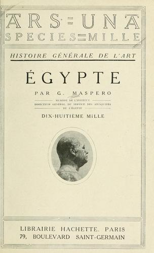 Égypte by Gaston Maspero