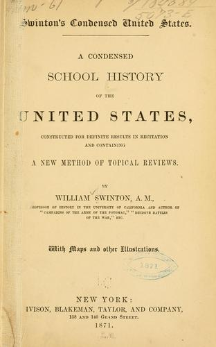 Swinton's condensed United States.