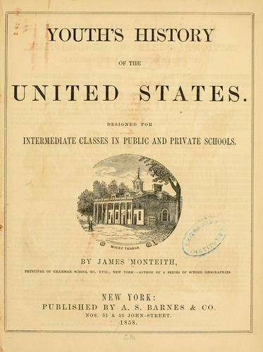 Youth's history of the United States by James Monteith