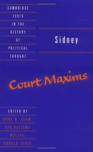 Court maxims by Sidney, Algernon