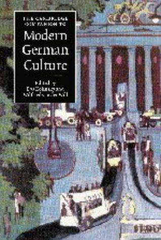 The Cambridge companion to modern German culture by