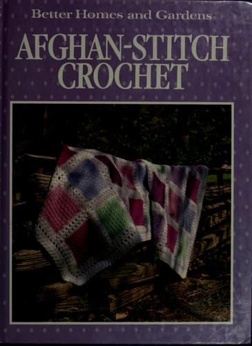 Afghan-stitch crochet by