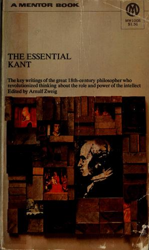 The essential Kant. by Immanuel Kant