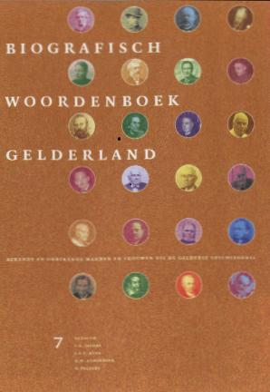 Biographisch woordenboek Gelderland deel 7 by