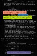 Script culture and the American screenplay by Kevin A. Boon