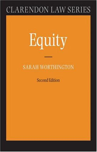 Equity by Sarah Worthington