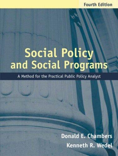 Social policy and social programs by Donald E. Chambers
