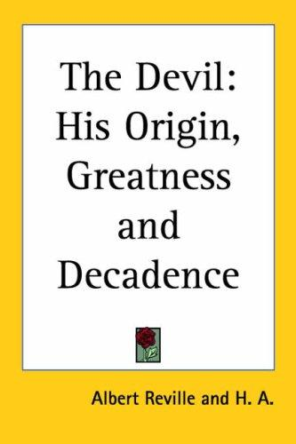 The Devil by Albert Reville