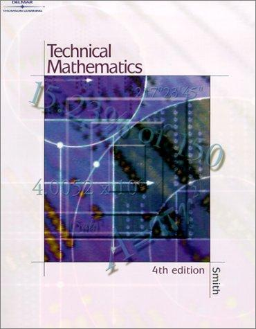 Technical Mathematics- Softcover by Robert D. Smith
