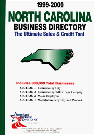1999-2000 North Carolina Business Directory by infoUSA Inc.