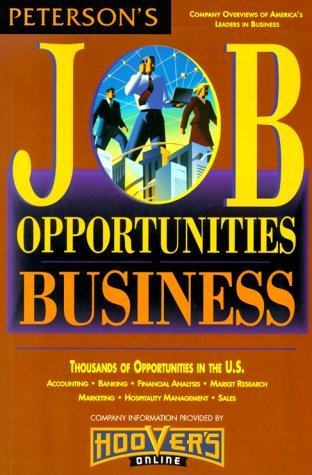 Job Opportunities for Business Majors 00 by Peterson's