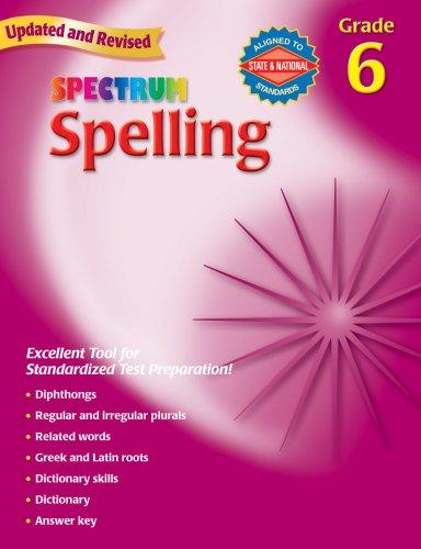 Image 0 of Spelling, Grade 6 (Spectrum)