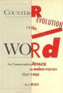 Counter-revolution of the word by Alan Filreis