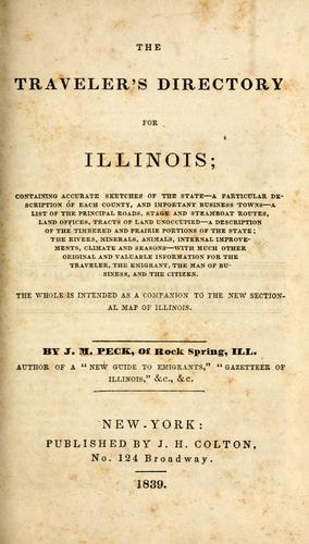 The traveller's directory for Illinois by Peck, John Mason