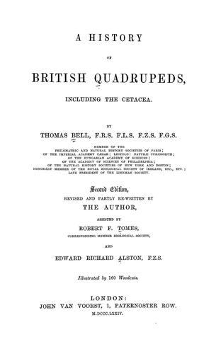 A history of British quadrupeds