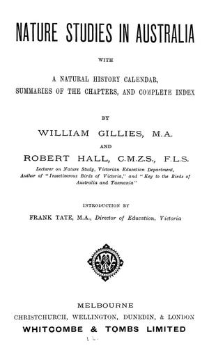 Nature studies in Australia by William Gillies