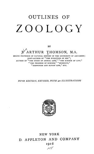 Outlines of zoology by J. Arthur Thomson
