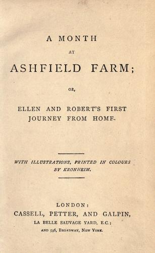 A month at Ashfield farm by