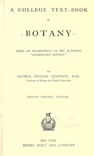 A college text-book of botany by George Francis Atkinson