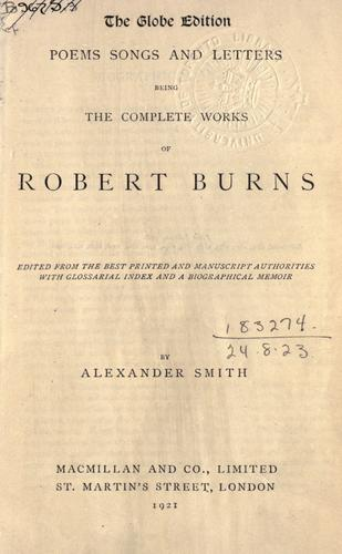 Poems songs and letters by Robert Burns