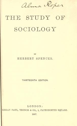 The study of sociology.