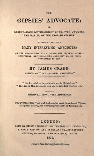 The Gipsies' advocate by James Crabb