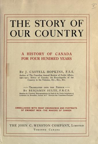 The story of our country by J. Castell Hopkins
