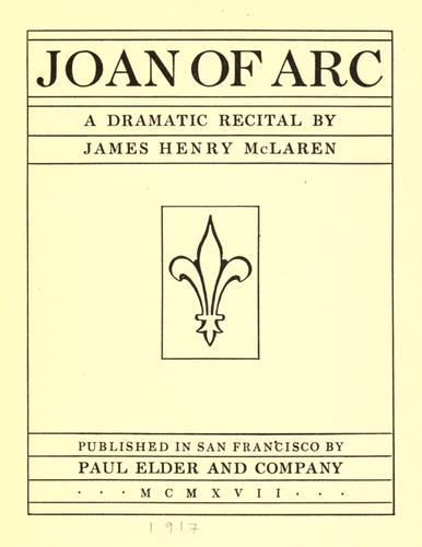 Joan of Arc by James Henry McLaren