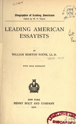Leading American essayists