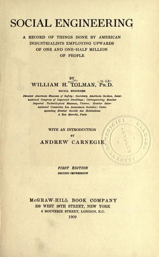Social engineering by William Howe Tolman
