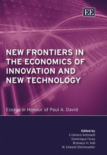 New frontiers in the economics of innovation and new technology by