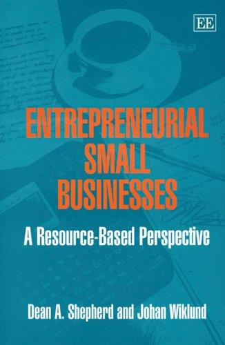 ENTREPRENEURIAL SMALL BUSINESSES: A RESOURCE-BASED PERSPECTIVE by DEAN A. SHEPHERD