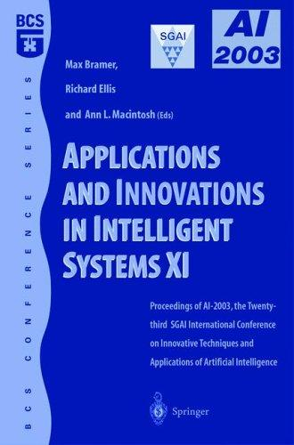 Applications and Innovations in Intelligent Systems XI by