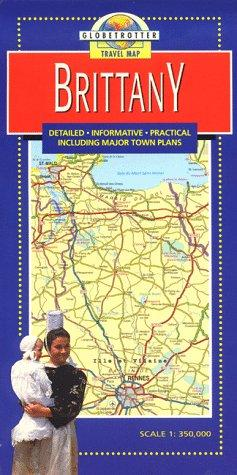Brittany Travel Map by Globetrotter