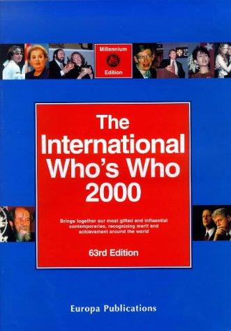 International Who's Who 2000 by 63rd  Ed