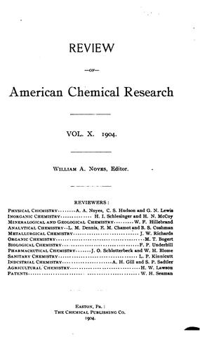 Review of American Chemical Research by Massachusetts Institute of Technology