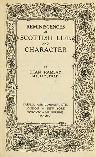 Reminiscences of Scottish life & character by Edward Bannerman Ramsay