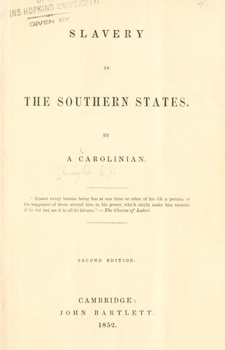 Slavery in the southern states.