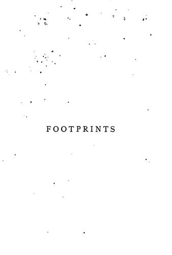 Footprints, nature seen on its human side, by Sarah Tytler by Henrietta Keddie