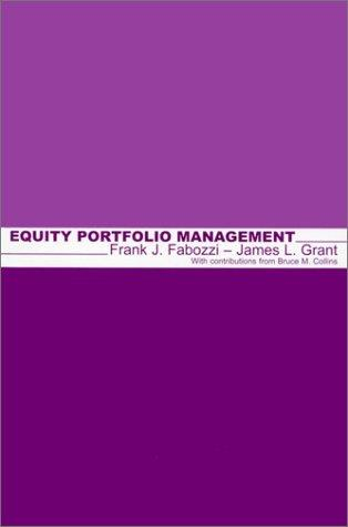 Equity Portfolio Management by Frank J. Fabozzi