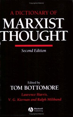 A Dictionary of Marxist thought by edited by Tom Bottomore.