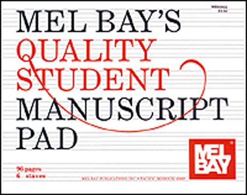 Mel Bay's Quality Student Manuscript Pad, 6-Stave by William Bay