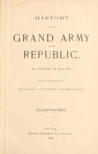 History of the Grand army of the republic