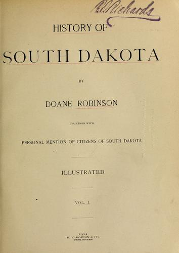 History of South Dakota by Doane Robinson
