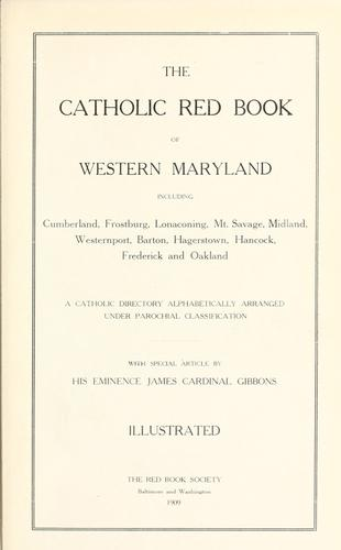 The Catholic red book of Western Maryland by Red Book Society