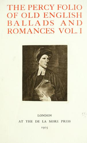 Folio of Old English ballads and romances by Thomas Percy